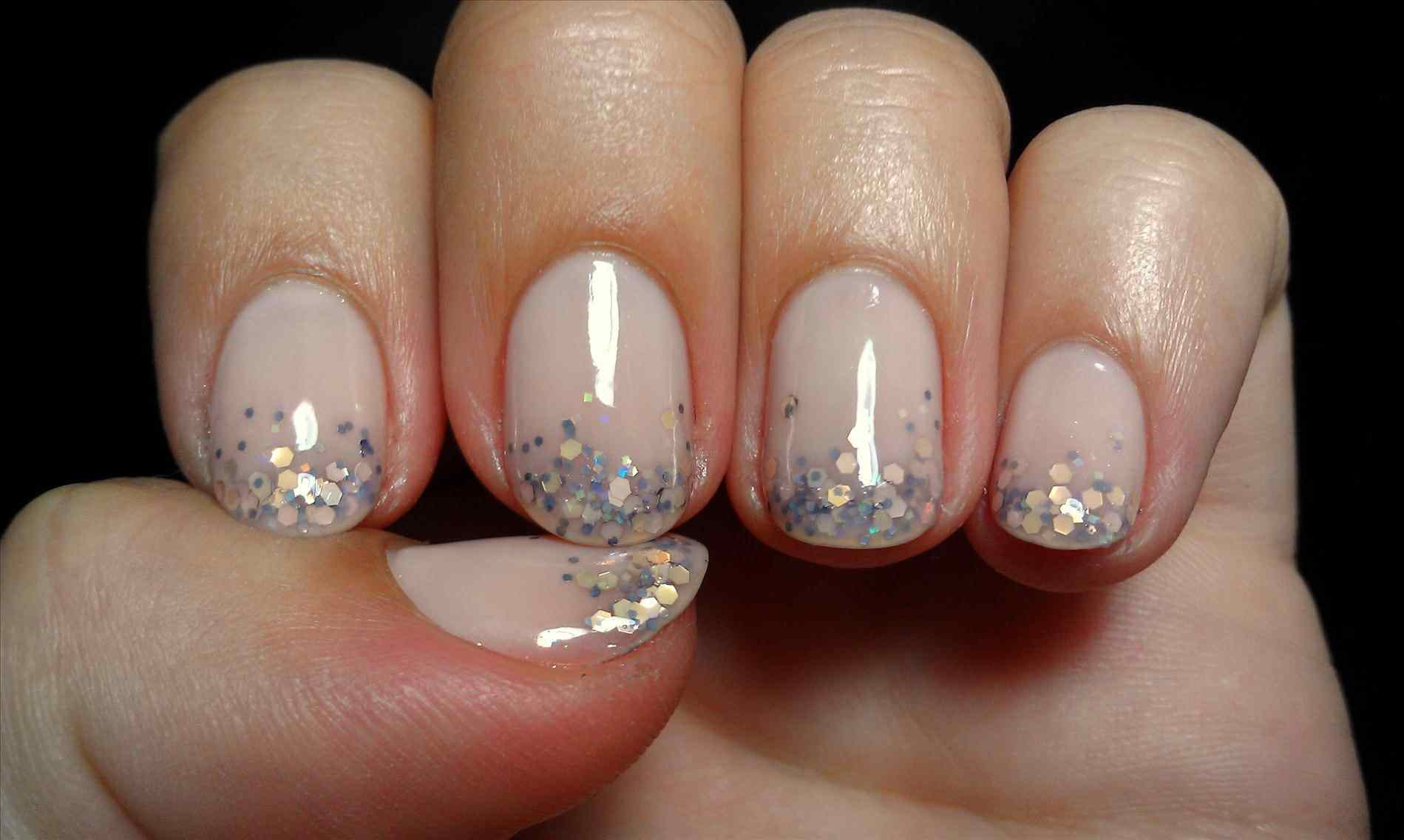 And Polish Up Cnd Shellac Nail Art Brush French Manicure With Gold Glitter Christmas