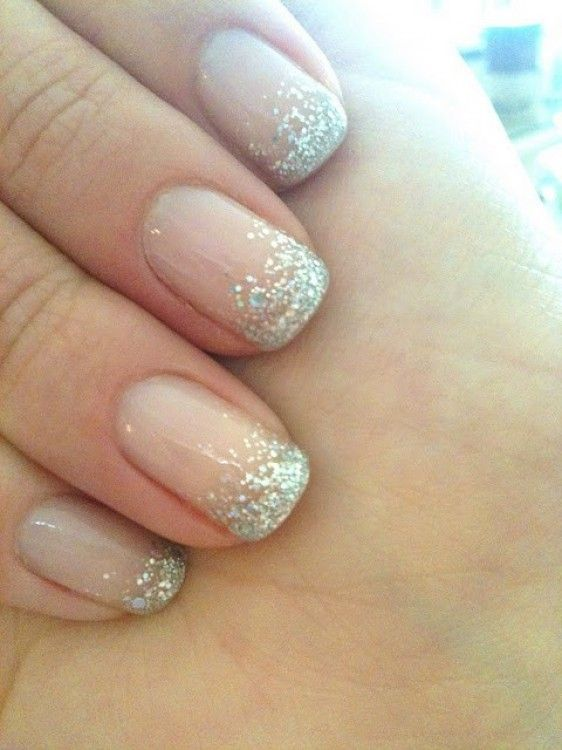 D25be94b398c8f833b64354ab82c0e5e French Manicures Sparkly Manicure